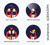 manners in theaters vector... | Shutterstock .eps vector #628342094