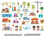 urban objects and models... | Shutterstock . vector #628344569