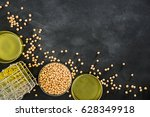 yellow soybeans through the... | Shutterstock . vector #628349918