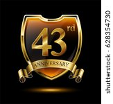 43rd anniversary logo with... | Shutterstock .eps vector #628354730