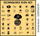 technology innovation icons set.... | Shutterstock .eps vector #628356224