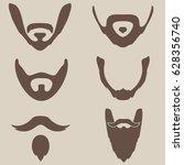 vector set of types of beards... | Shutterstock .eps vector #628356740
