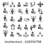 business icons set. management  ... | Shutterstock . vector #628356788