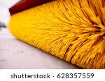 close up shot of a road brush... | Shutterstock . vector #628357559