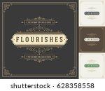 royal logo design template... | Shutterstock .eps vector #628358558