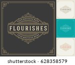 royal logo design template... | Shutterstock .eps vector #628358579