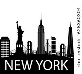 new york city skyline  vector... | Shutterstock .eps vector #628360304