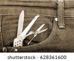 Pocket Knife In The Pocket Of...