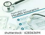 application for health... | Shutterstock . vector #628363694