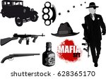 a small set of gangster... | Shutterstock .eps vector #628365170