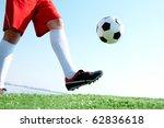 Horizontal Image Of Soccer Bal...