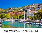 city of rijeka delta and trsat... | Shutterstock . vector #628366313