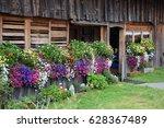 garden at a farmhouse | Shutterstock . vector #628367489