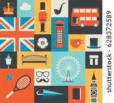 United Kingdom  London  Vector...