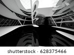 abstract dynamic interior with... | Shutterstock . vector #628375466