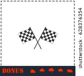 racing flag icon flat. simple... | Shutterstock . vector #628376354