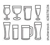 beer cups line icon | Shutterstock .eps vector #628378136