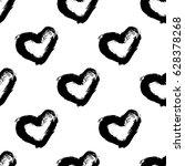 abstract brush seamless heart... | Shutterstock .eps vector #628378268