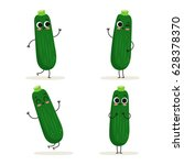 zucchini. cute vegetable vector ... | Shutterstock .eps vector #628378370