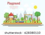 playground vector illustration. ... | Shutterstock .eps vector #628380110