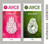 vector set of templates... | Shutterstock .eps vector #628382360