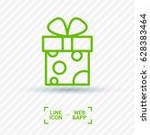 gift box line vector icon | Shutterstock .eps vector #628383464