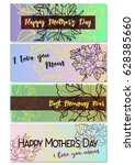 happy mother's day greeting... | Shutterstock .eps vector #628385660