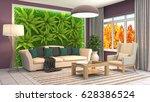 interior living room. 3d... | Shutterstock . vector #628386524