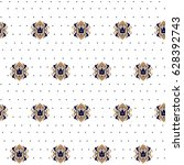 seamless pattern with graphic... | Shutterstock .eps vector #628392743