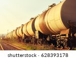 a freight train on the railway...   Shutterstock . vector #628393178