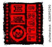 vector illustration red shabby...   Shutterstock .eps vector #628395290