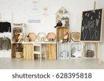 modern scandi interior of... | Shutterstock . vector #628395818