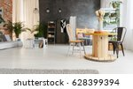 modern upcycled interior of... | Shutterstock . vector #628399394