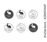 no animals testing icon design. ... | Shutterstock .eps vector #628402469