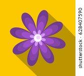 Flat Illustration Of Purple...