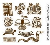 tribal indian patterns or... | Shutterstock .eps vector #628409120