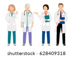 people in white coats vector... | Shutterstock .eps vector #628409318