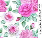 seamless floral pattern with... | Shutterstock . vector #628411376