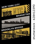 photo new york and brooklyn... | Shutterstock . vector #628412390