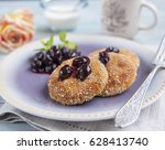 curd cheese pancakes ... | Shutterstock . vector #628413740