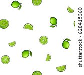 seamless pattern of whole and... | Shutterstock .eps vector #628415360