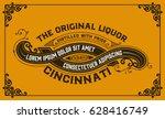 ornamental card. western style | Shutterstock .eps vector #628416749