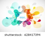 abstract colored flower... | Shutterstock .eps vector #628417394