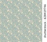 antique seamless background...   Shutterstock .eps vector #628419746