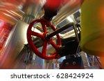 industrial factory worker... | Shutterstock . vector #628424924