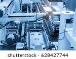 industrial machine robot in... | Shutterstock . vector #628427744