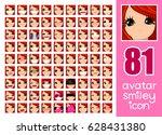 vector set 81 social media... | Shutterstock .eps vector #628431380