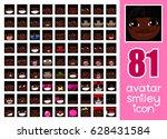 vector set 81 social media... | Shutterstock .eps vector #628431584