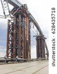 fragment of bridge  | Shutterstock . vector #628435718