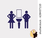 symbols inlet to the toilet ... | Shutterstock .eps vector #628437110